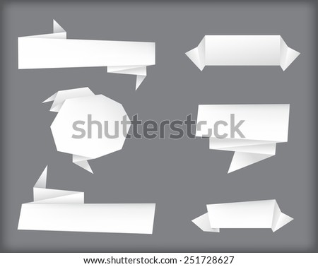 Ribbon banner set.Paper banners.Vector illustration. - stock vector