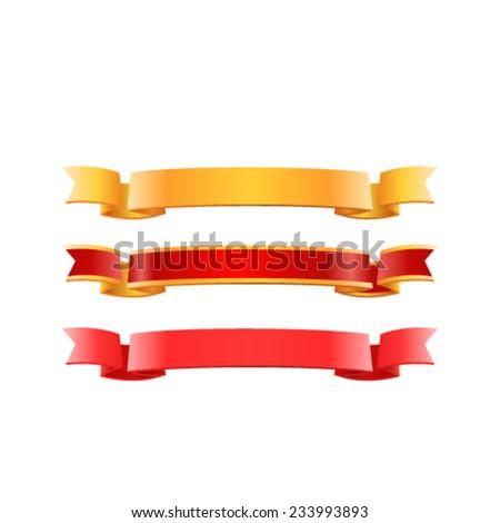 Ribbon banner set. Vector - stock vector
