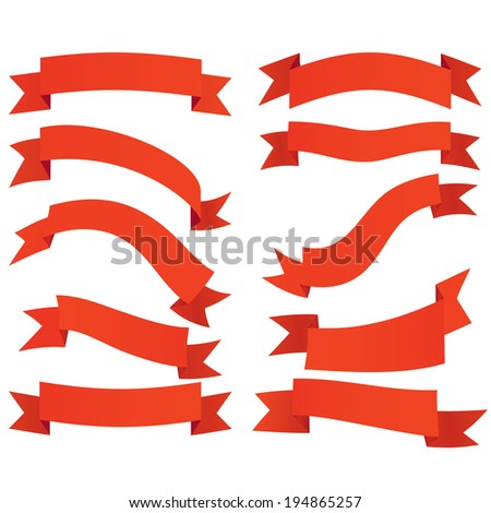 Ribbon. banners, labels set Vector Illustration. - stock vector