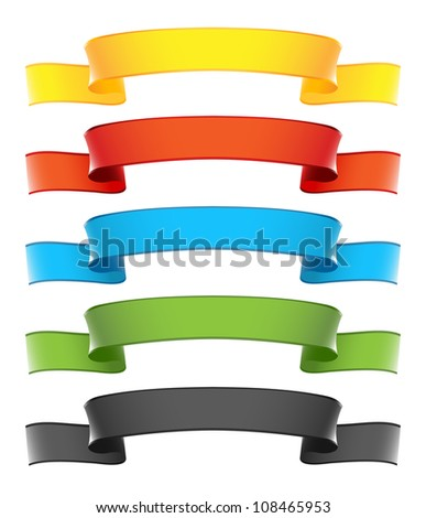 Ribbon Banners Set - stock vector