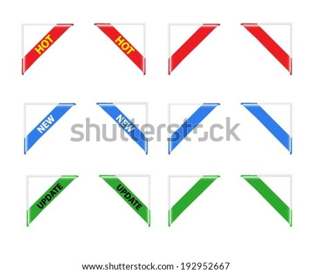 ribbon corner - stock vector