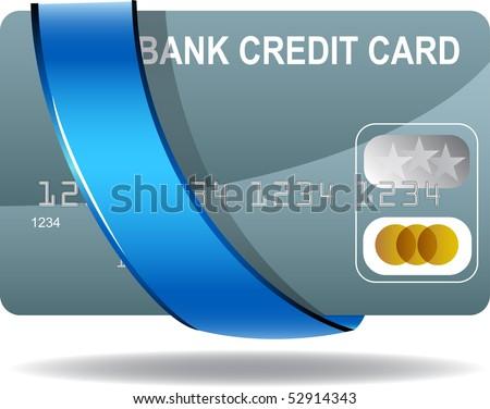 Ribbon Credit Card - stock vector