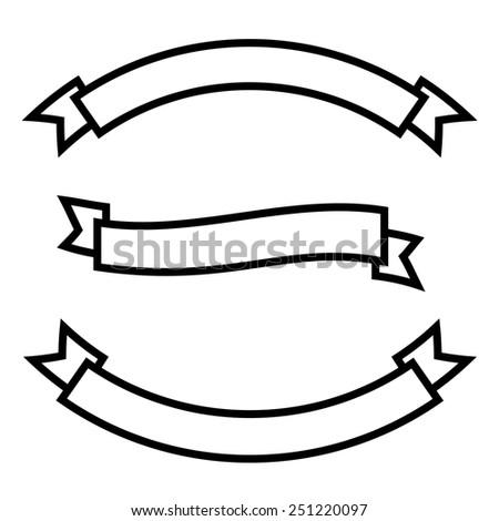 Ribbon set  - stock vector