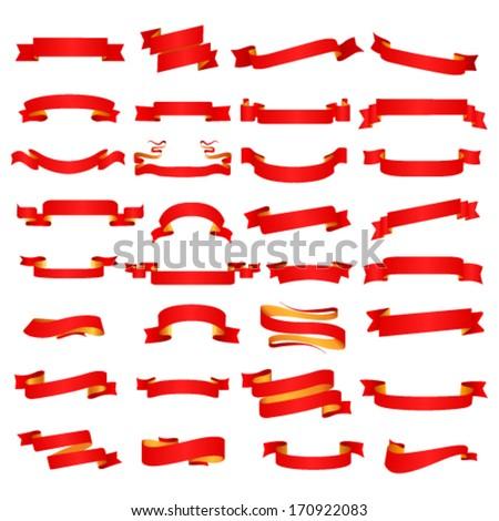 Ribbon set. Vector - stock vector