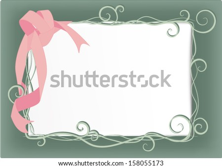 ribbon with frame for place some text - stock vector