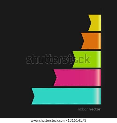 Ribbons Set - stock vector