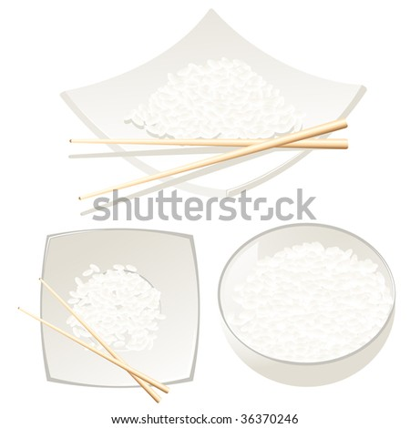 Rice, vector illustration, EPS file included - stock vector