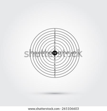 Rifle target   - stock vector