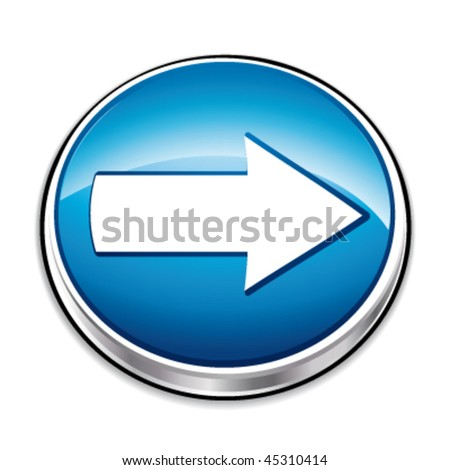 Right arrow direction button. Vector illustration. - stock vector