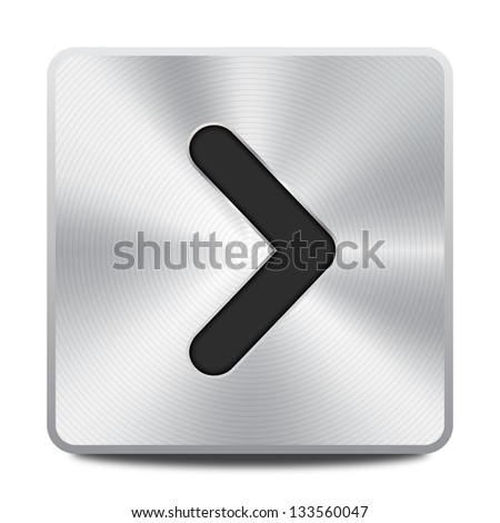 Right arrow icon / button - stock vector