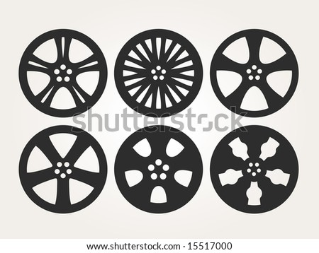 Rims Outline - stock vector