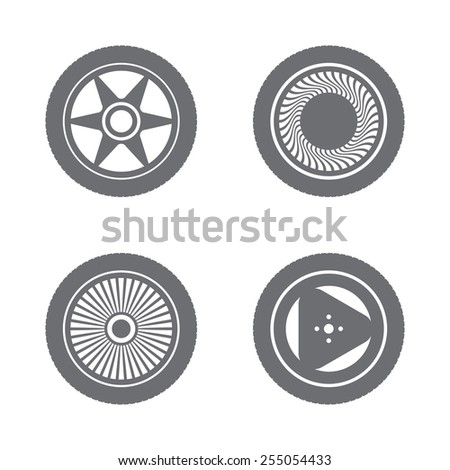 Rims with tire - stock vector