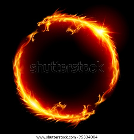Ring of Fire of the Dragon. Illustration on white background. - stock vector
