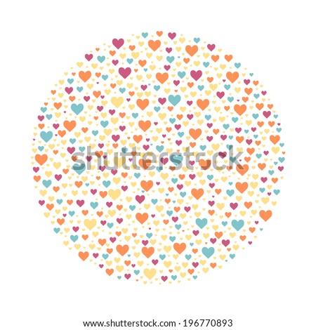 Ring of hearts. Vector illustration. - stock vector