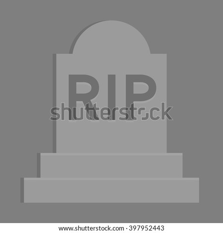 RIP Rest in Peace Funeral Vector - stock vector