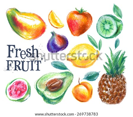 ripe fruit vector logo design template. fresh food or gardening, harvest icon. - stock vector
