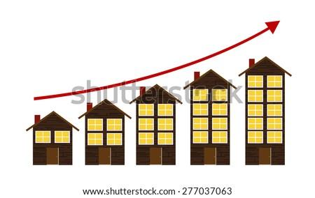 Rising Housing Market Concept Vector Illustration EPS10 - stock vector