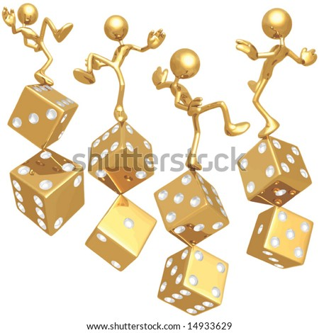 Risk Dice Concepts - stock vector