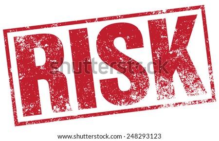 risk stamp - stock vector