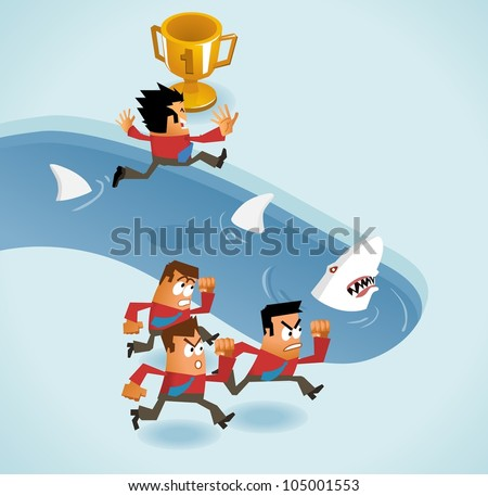 Risk Taking.  vector illustration - stock vector