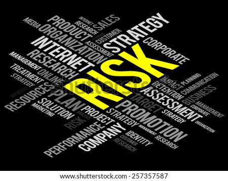 RISK word cloud, business concept - stock vector