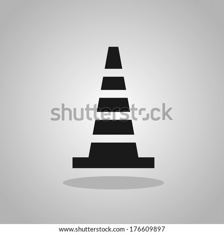 Road Cone Icon - stock vector