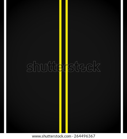 Road Graphics. Paved Road, Section of Bitumen, Asphalt Road - stock vector