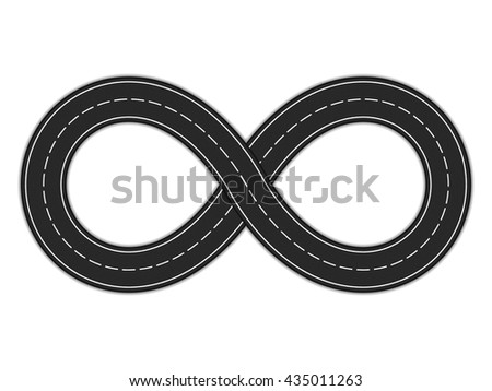 Road infinity on white background, vector eps10 illustration - stock vector