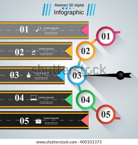 Road infographic design template and marketing icons. Speedometer icon. - stock vector