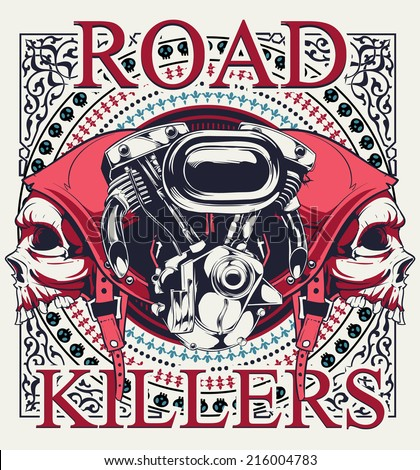 Road killer - stock vector
