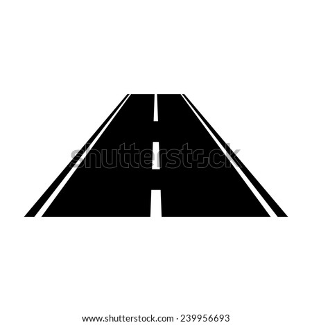 Road perspective, vector illustration - stock vector