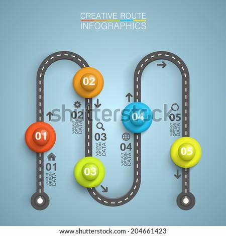 Road point information. vector illustration - stock vector