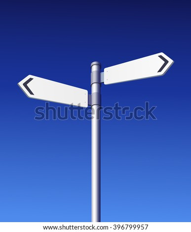 Road Sign Blank. Vector Illustration - stock vector