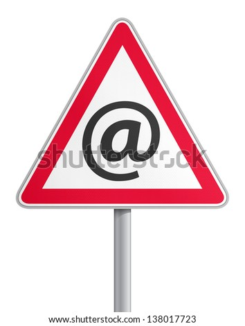 Road sign mail fraud - stock vector