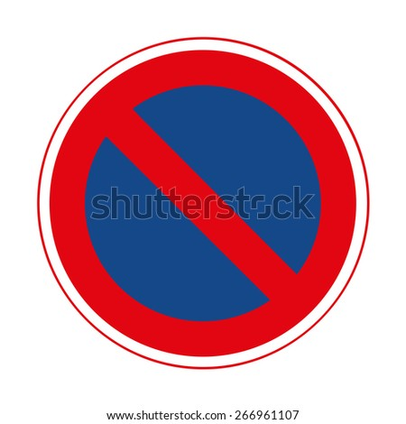 Road sign. Prohibitory sign. No parking. - stock vector