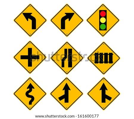 Road Sign set.vector - stock vector