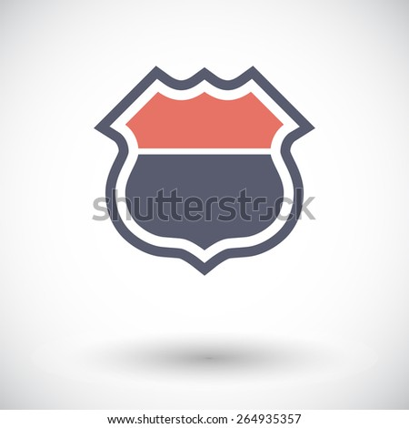Road sign. Single flat icon on white background. Vector illustration. - stock vector