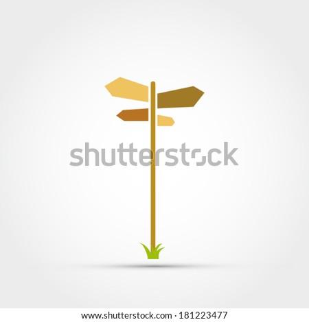 Road sign vector - stock vector