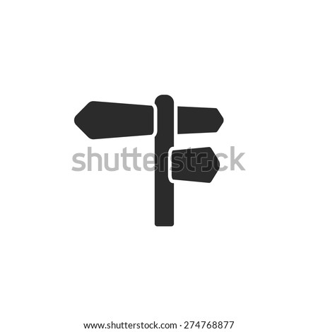 Road sign vector - stock vector