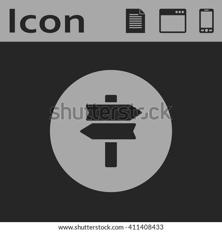 road sign vector icon - stock vector