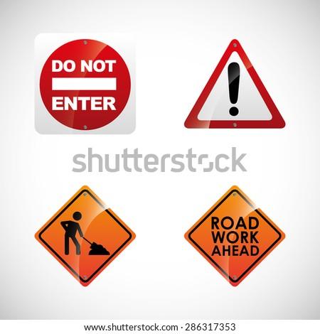 road signals design, vector illustration eps10 graphic  - stock vector