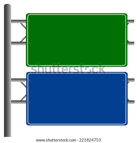 Road signs blank isolated vector - stock vector