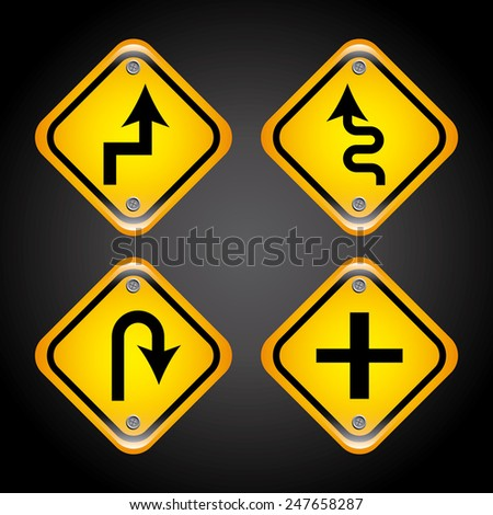 road signs design, vector illustration eps10 graphic - stock vector