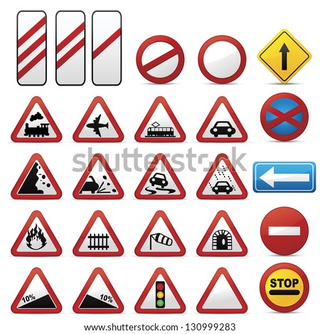 Road signs .Vector - stock vector