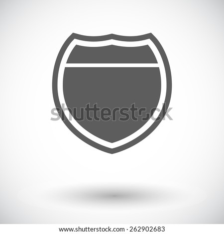 Road. Single flat icon on white background. Vector illustration. - stock vector