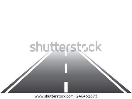 Road to Nowhere. Vector - stock vector