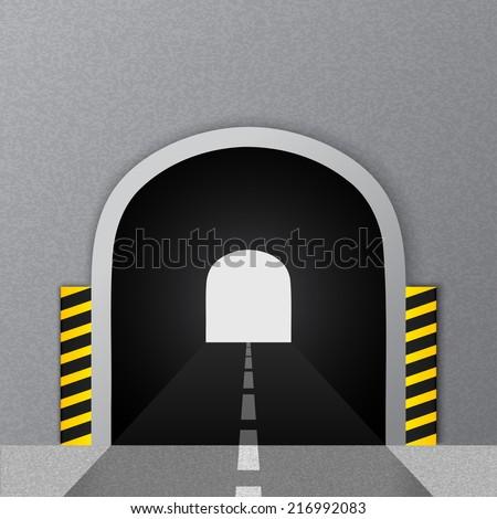 Road tunnel. Vector illustration. - stock vector