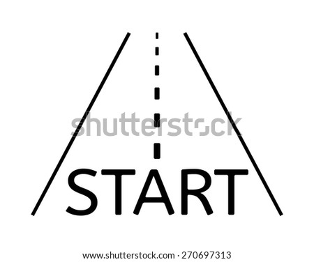 road with finish start on the beginning - stock vector