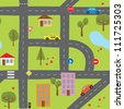 Roads seamless - stock vector