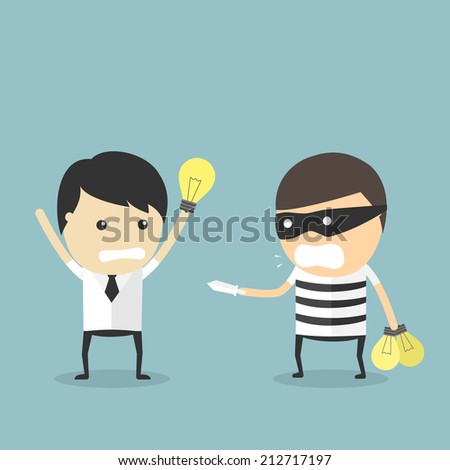 Rob Idea. cartoon concept Vector illustration - stock vector